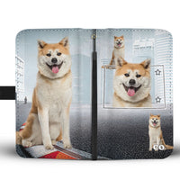 Akita Dog Print Wallet Case-Free Shipping-CO State - Deruj.com