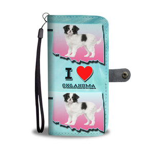 Cute Japanese Chin Dog Print Wallet Case-Free Shipping-OK State - Deruj.com