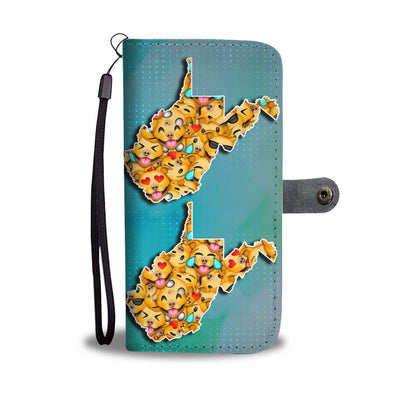 Pit Bull Dog Smileys Print Wallet Case-Free Shipping-WV State - Deruj.com
