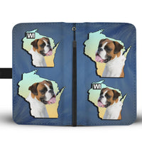 Amazing Boxer Dog Print Wallet Case-Free Shipping-WI State - Deruj.com