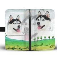 Siberian Husky Print Wallet Case-Free Shipping-CO State - Deruj.com