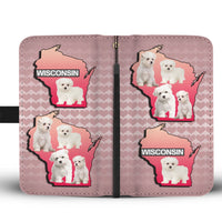 Cute Maltese Dog On Pink Print Wallet Case-Free Shipping-WI State - Deruj.com