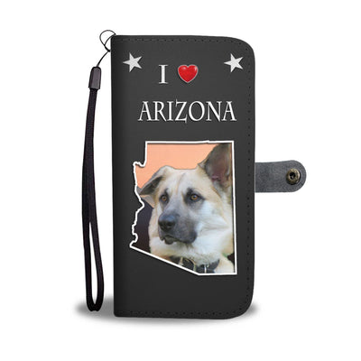 Chinook Dog Print Wallet Case-Free Shipping-AZ State