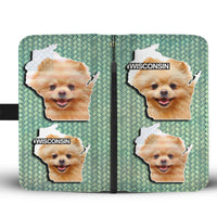Cute Pomeranian Dog Print Wallet Case-Free Shipping-WI State - Deruj.com