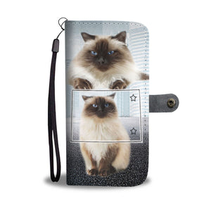 Himalayan cat Print Wallet Case-Free Shipping-CO State - Deruj.com