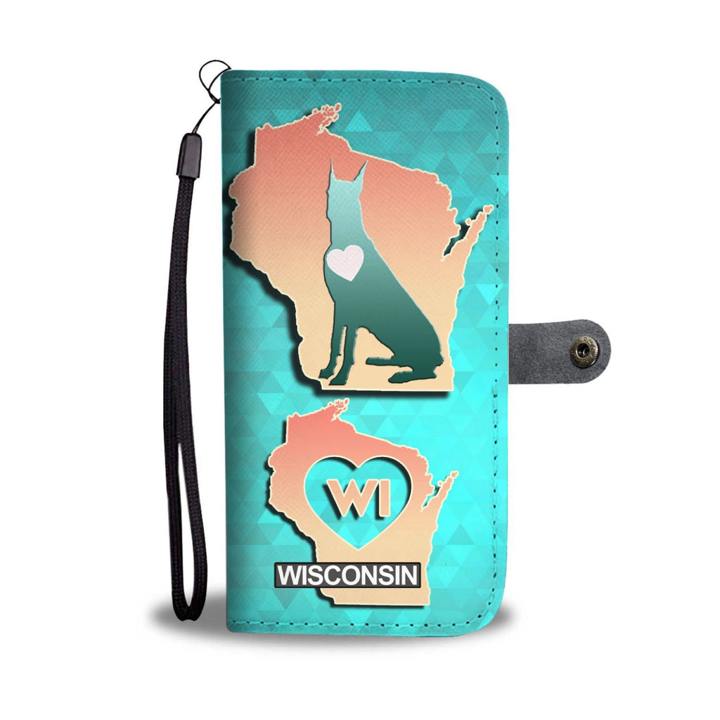 Great Dane Dog Art Print Wallet Case-Free Shipping-WI State - Deruj.com