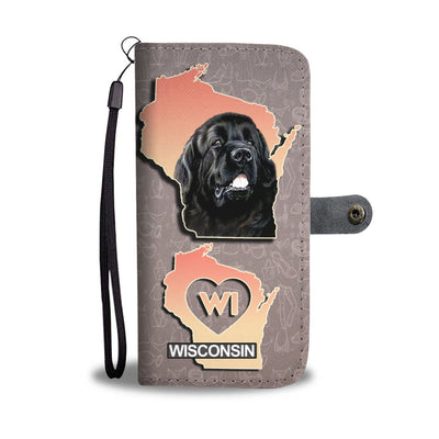 Amazing Newfoundland Dog Print Wallet Case-Free Shipping-WI State - Deruj.com
