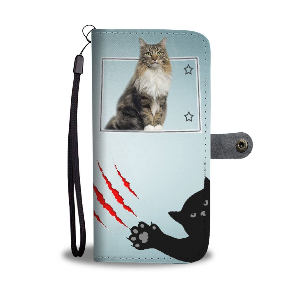 Maine Coon Cat Print Wallet Case-Free Shipping-CO State - Deruj.com