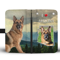 Cute German Shepherd Print Wallet Case-Free Shipping-AZ State - Deruj.com