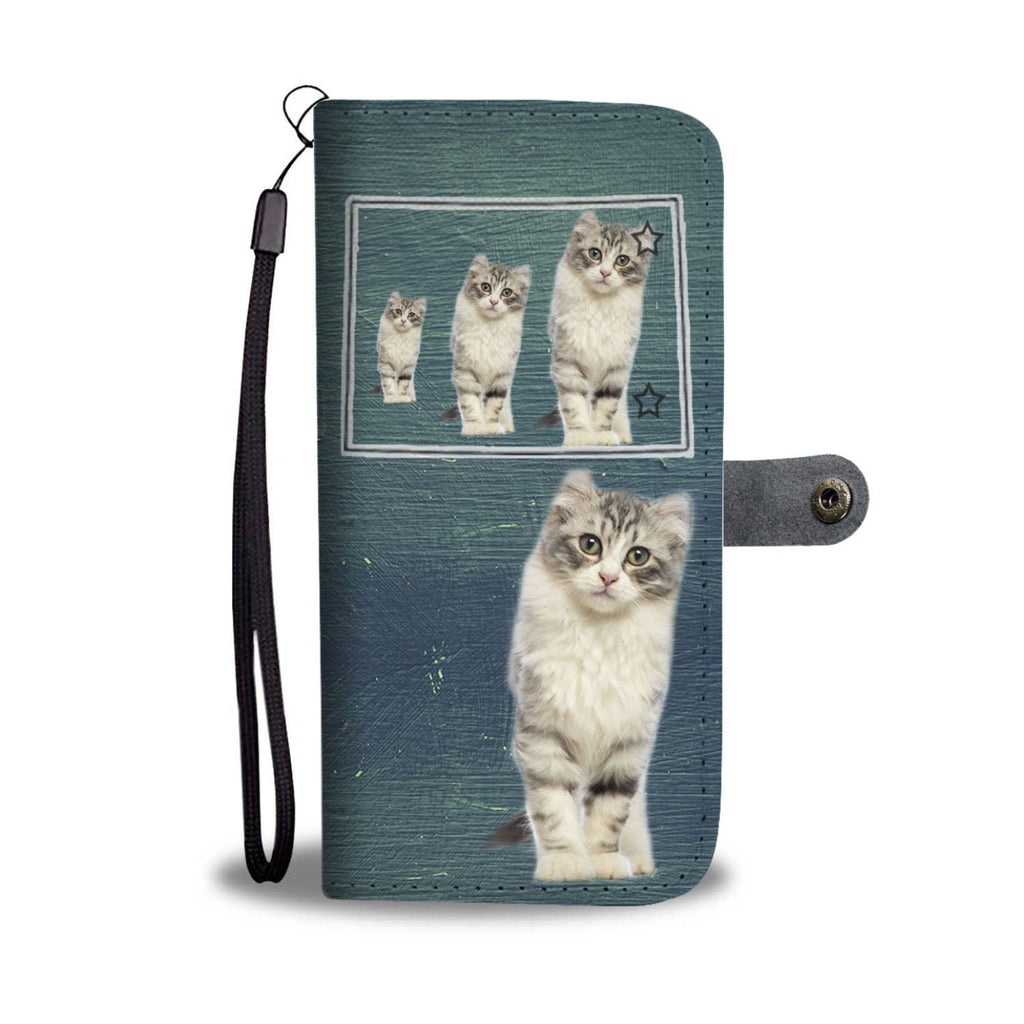 American Curl Cat Print Wallet Case-Free Shipping-CO State - Deruj.com