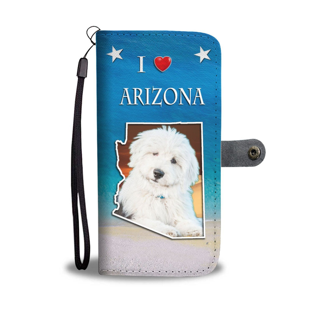 Old English Sheepdog Print Wallet Case-Free Shipping-AZ State - Deruj.com
