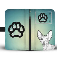 Sphynx Cat Print Wallet Case-Free Shipping-CO State - Deruj.com