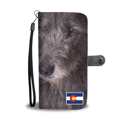 Irish Wolfhound Print Wallet Case-Free Shipping-CO State - Deruj.com