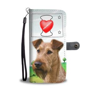 Irish Terrier Print Wallet Case-Free Shipping-CO State - Deruj.com