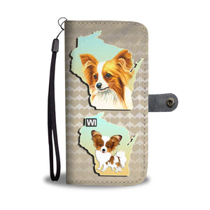 Papillon Dog Art Print Wallet Case-Free Shipping-WI State - Deruj.com