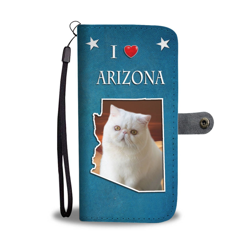 Lovely Exotic Shorthair Cat Print Wallet-Free Shipping-AZ State - Deruj.com