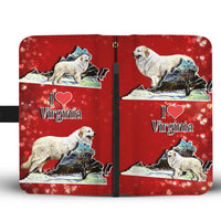 Great Pyrenees Dog Art Print Wallet Case-Free Shipping-VA State - Deruj.com