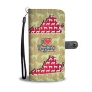 Great Pyrenees Dog Pattern Print Wallet Case-Free Shipping-VA State