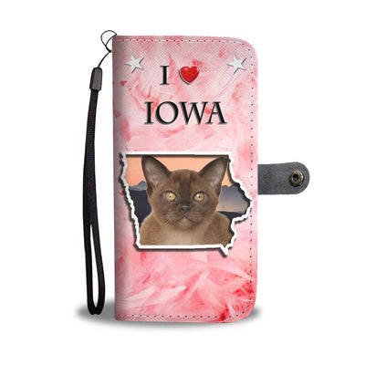 Lovely Burmese Cat Print Wallet Case-Free Shipping-IA State - Deruj.com