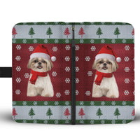 Shih Tzu Dog Christmas Print Wallet Case-Free Shipping - Deruj.com
