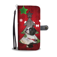 Lovely Boston Terrier Christmas Print Wallet Case-Free Shipping - Deruj.com