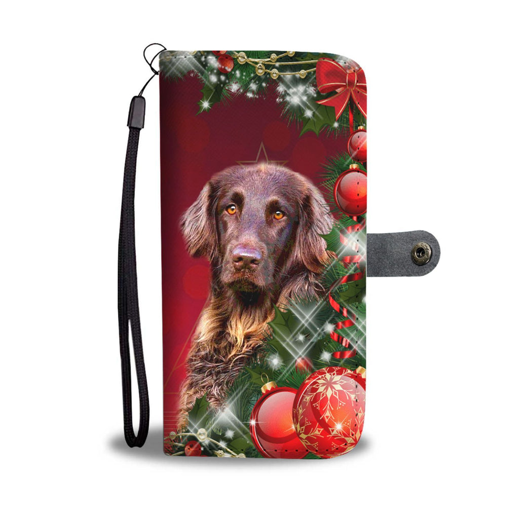 German Longhair Dog Christmas Print Wallet Case-Free Shipping - Deruj.com