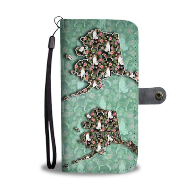 Lovely Beagle Dog Floral Print Wallet Case-Free Shipping-AK State - Deruj.com