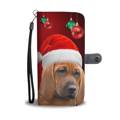 Cute Redbone Coonhound On Christmas Print Wallet Case-Free Shipping - Deruj.com