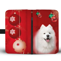 Cute Samoyed Dog On Christmas Wallet Case-Free Shipping - Deruj.com