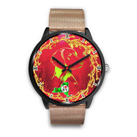 Lovely Vizsla Dog Art ON Red New York Christmas Special Wrist Watch-Free Shipping - Deruj.com