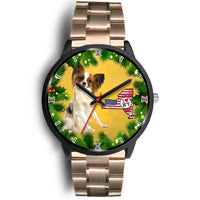 Lovely Papillon Dog New York Christmas Special Wrist Watch-Free Shipping - Deruj.com