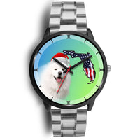 Samoyed Dog On Christmas Florida Black Wrist Watch-Free Shipping - Deruj.com