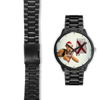 Airedale Terrier On Christmas Alabama Wrist Watch-Free Shipping - Deruj.com
