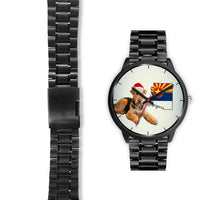 Airedale Terrier On Christmas Arizona Wrist Watch-Free Shipping - Deruj.com