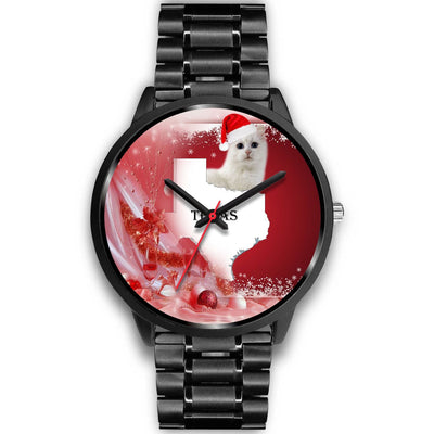 Turkish Angora Cat Texas Christmas Special Wrist Watch-Free Shipping