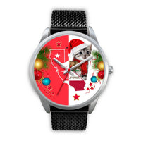 American Shorthair Cat California Christmas Special Wrist Watch-Free Shipping - Deruj.com