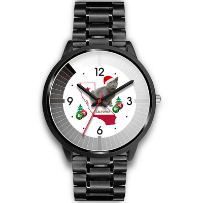 Chartreux Cat California Christmas Special Wrist Watch-Free Shipping - Deruj.com