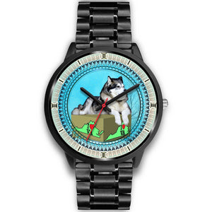 Alaskan Malamute Dog Virginia Christmas Special Wrist Watch-Free Shipping - Deruj.com