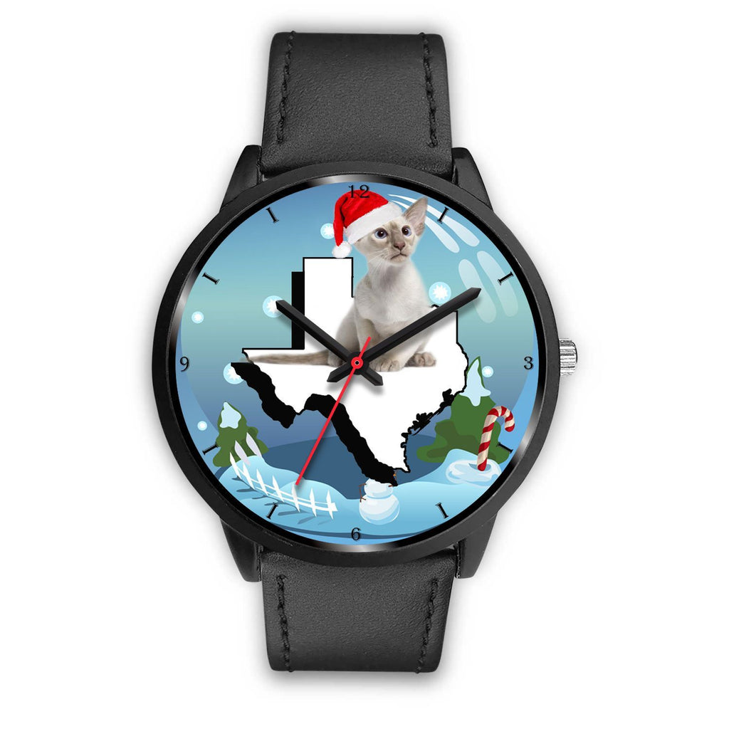 Oriental Shorthair Cat Texas Christmas Special Wrist Watch-Free Shipping - Deruj.com