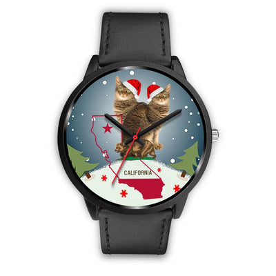 Laperm Cat California Christmas Special Wrist Watch-Free Shipping - Deruj.com