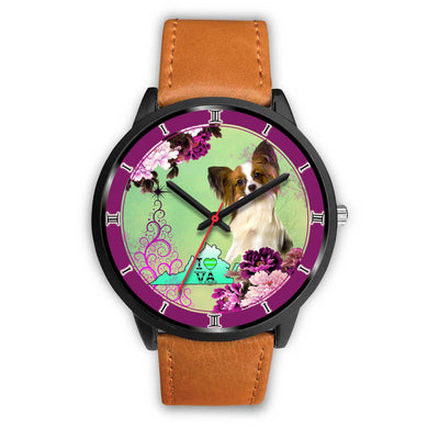 Papillon Dog Virginia Christmas Special Wrist Watch-Free Shipping - Deruj.com