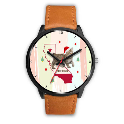 American Bobtail Cat California Christmas Special Wrist Watch-Free Shipping - Deruj.com