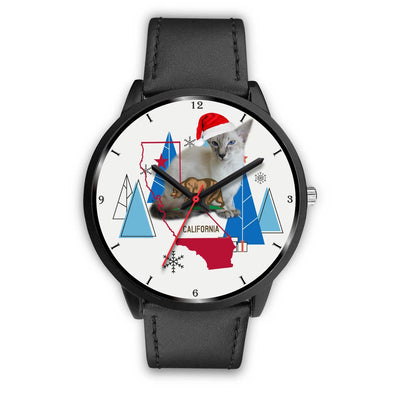 Javanese Cat California Christmas Special Wrist Watch-Free Shipping - Deruj.com