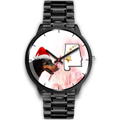 Doberman Pinscher Alabama Christmas Special Wrist Watch-Free Shipping - Deruj.com