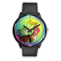 Lovely American Bobtail Cat Michigan Christmas Special Wrist Watch-Free Shipping - Deruj.com