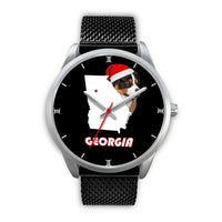 Australian Shepherd Dog Georgia Christmas Special Wrist Watch-Free Shipping - Deruj.com