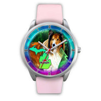 Amazing Rough Collie Dog Art Michigan Christmas Special Wrist Watch-Free Shipping - Deruj.com
