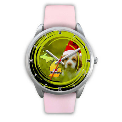 Cocker Spaniel Dog Michigan Christmas Special Wrist Watch-Free Shipping
