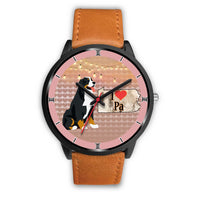 Bernese Mountain Dog Art Pennsylvania Christmas Special Wrist Watch-Free Shipping - Deruj.com