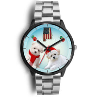 Maltese Dog Alabama Christmas Special Wrist Watch-Free Shipping - Deruj.com
